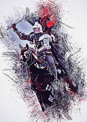 Painting - Medieval Knight - 04  by Andrea Mazzocchetti