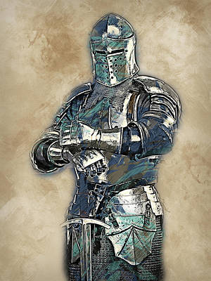 Painting - Medieval Warrior - 16 by Andrea Mazzocchetti