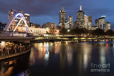 Photograph - Melbourne Skyline by Didier Marti