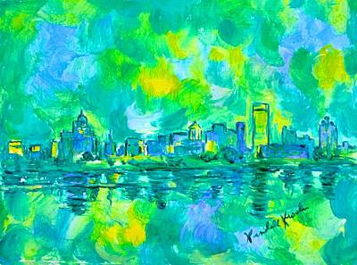 Painting - Memphis Green by Kendall Kessler