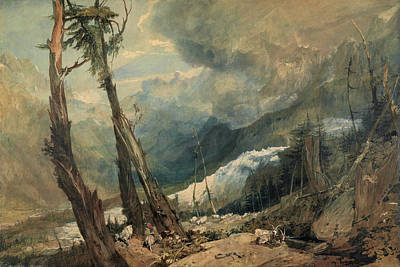 Painting - Mer De Glace In The Valley Of Chamouni Switzerland by Joseph Mallord William Turner