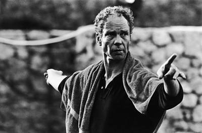Photograph - Merce Cunningham In Saint Paul De by Herve Gloaguen