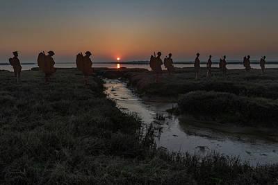 Photograph - Mersea Island Silhouettes by Gary Eason