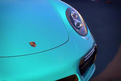 Photograph - #miami #blue #porsche 911 #turbo S #print by ItzKirb Photography