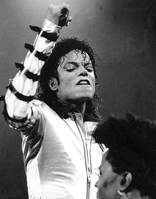Photograph - Michael Jackson In Concert At Madison by New York Daily News Archive