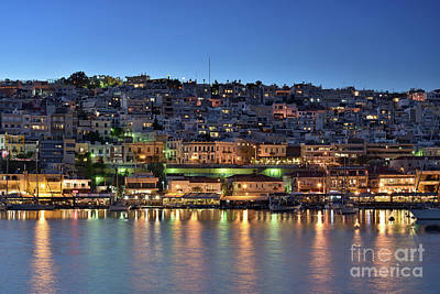 Photograph - Mikrolimano Port By Dusk Time II by George Atsametakis