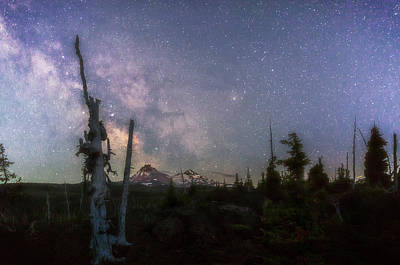 Sean Rights Managed Images - McKenzie Pass Milky Way Royalty-Free Image by Cat Connor