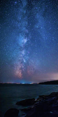 Photograph - Milky Way Over Mount Desert Island by Stefan Mazzola