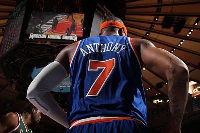 Photograph - Milwaukee Bucks V New York Knicks by Nathaniel S. Butler