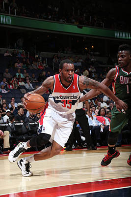 Photograph - Milwaukee Bucks V Washington Wizards by Ned Dishman