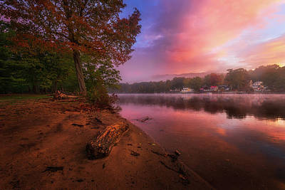 Photograph - Misty Autumn Morning by Lechmoore Simms
