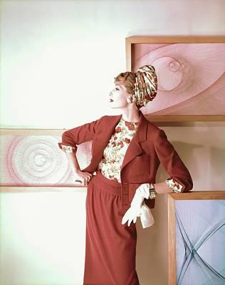 Photograph - Model In A Ben Gershel Suit by Henry Clarke