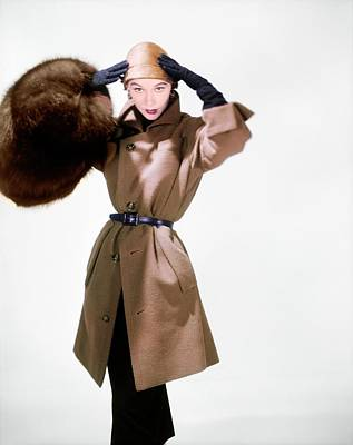 Photograph - Model In A Christian Dior Ensemble by Horst P. Horst