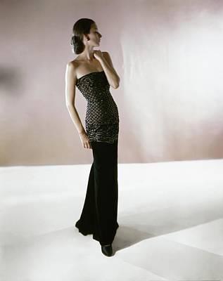 Photograph - Model In A Leslie Morris Dress by Horst P. Horst