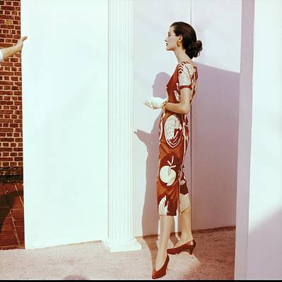 Photograph - Model In A Tina Leser Dress by Horst P. Horst