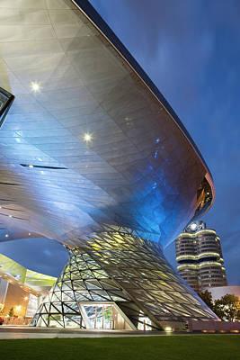 Photograph - Modern Building Illuminated At Night by Chris Walsh