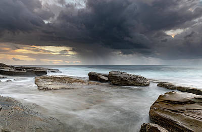 Photograph - Moody Early Morning Seascape by Merrillie Redden