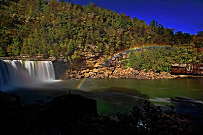 Photograph - Moonbow At Cumberland Falls by Jim Vallee
