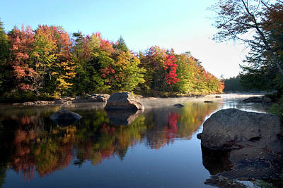 Photograph - Moose River In The Adirondack Mountains by Myloupe/uig