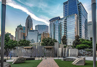 Photograph - Morning Sunrise Over Charlotte North Carolina by Alex Grichenko
