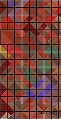 Painting - Mosaic Geometric Art by Sheila Mcdonald