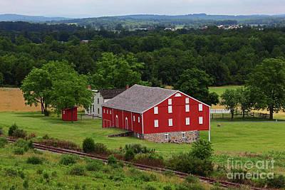 Photograph - Moses Mclean Farm Gettysburg Battlefield by James Brunker