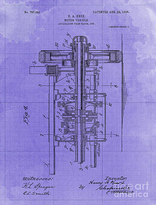 Royalty-Free and Rights-Managed Images - Motor Vehicle Old Patent Year 1905 Blueprint by Drawspots Illustrations