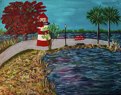 Painting - Mount Dora Lighthouse by Randy Sylvia