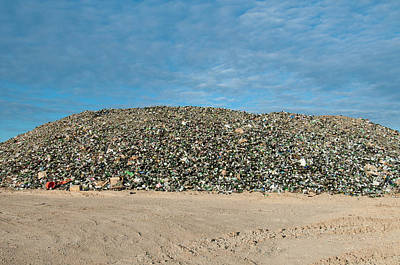 Photograph - Mountain Of Glass Bottles by William Mullins