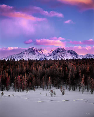 Photograph - Mountain Sunset by Leland D Howard