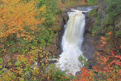 Kitchen Spices And Herbs - Moxie Falls in Autumn by John Burk