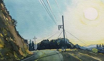 A White Christmas Cityscape - Mulholland by Luisa Millicent