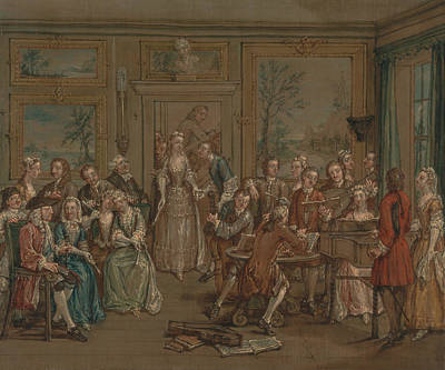 Painting - Musical Conversation by Marcellus Laroon the Younger