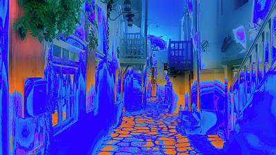 Digital Art - Mykonos - Alley by Nicholas V K