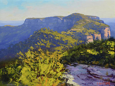 Coy Fish Michael Creese Paintings - Narrow neck Katoomba by Graham Gercken