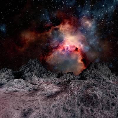 Digital Art - Nebula Seen From An Alien Planet by Mehau Kulyk