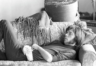 Neil Young Wall Art - Photograph - Neil Young In Malibu by Michael Ochs Archives