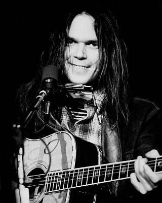 Neil Young Wall Art - Photograph - Neil Young Live by Larry Hulst