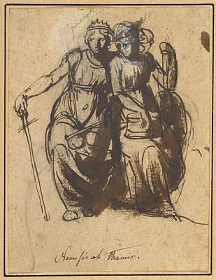Painting - Nemesis And Themis  Nicolai Abraham Abildgaard  Danish  Copenhangen 1743 1809 Frederiksdal  by Celestial Images
