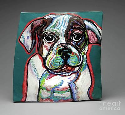 Pastel - Neon Bulldog by Ann Hoff