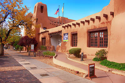 Photograph - New Mexico Museum Of Art by Chris Smith