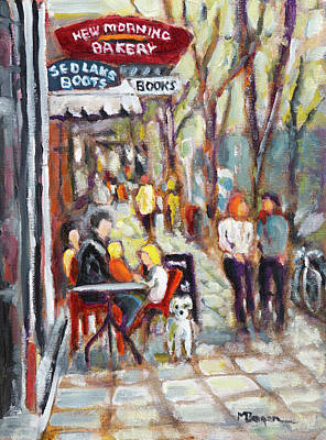 Painting - New Morning Bakery by Mike Bergen