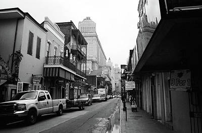 Photograph - New Orleans Bourbon Street 2004 Bw #45 by Frank Romeo