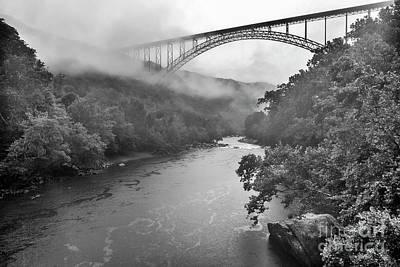 Photograph - New River Gorge Bridge In Rain by Thomas R Fletcher