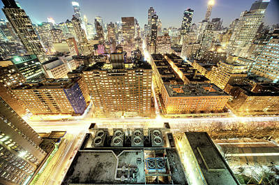 Photograph - New York City Nightscape by Tony Shi Photography