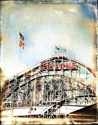 Mixed Media - New York - Coney Island by Javier Lopez Rotella