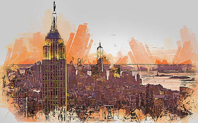 Painting - New York Panorama - 27 by Andrea Mazzocchetti