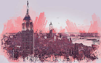 Painting - New York Panorama - 28 by Andrea Mazzocchetti