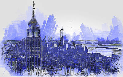 Painting - New York Panorama - 29 by Andrea Mazzocchetti