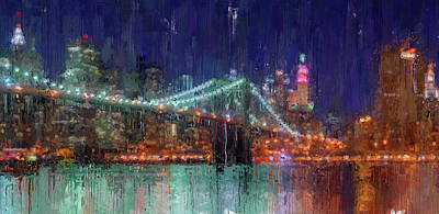 Painting - New York Panorama - 30 by Andrea Mazzocchetti